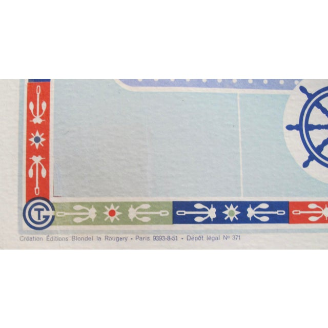 Original Vintage French North American Route Map, the French Line For Sale - Image 6 of 8