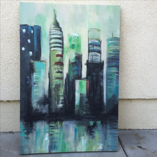 Twilight Cityscape on Canvas - Image 4 of 11
