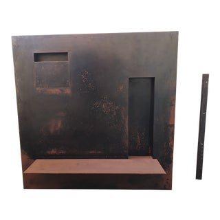 Modern Steel Wall Console Sculpture For Sale