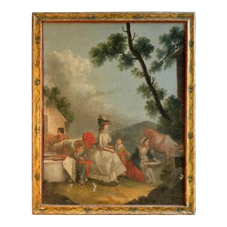 18th Century French Provincial Farm Scene, Marie Antoinette For Sale