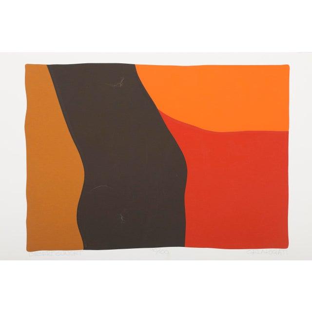 Paper Original Silkscreen by C. Daniel Gelakoska - Desert Sunset, 1977 For Sale - Image 7 of 7