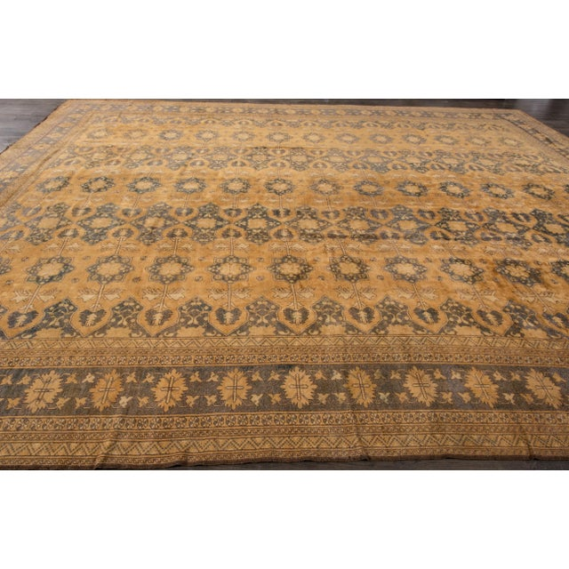 "Textile Apadana - Vintage Afghan Rug, 13'1"" x 16'7"" For Sale - Image 7 of 7"