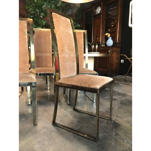1950s Italian Chairs in Massive Brass, 1960, Set of Four For Sale - Image 5 of 10