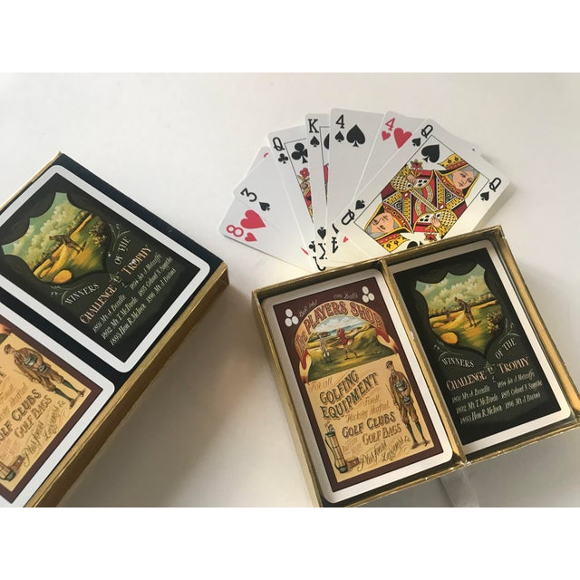 Americana Vintage Golf Scene Motif Congress Playing Cards - Double Deck For Sale - Image 3 of 7