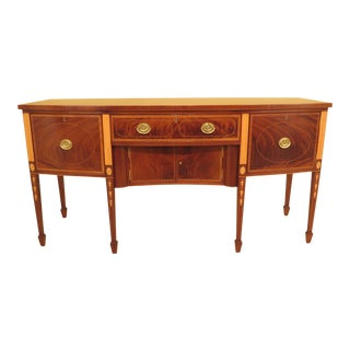1970s Traditional Kittinger Colonial Williamsburg Mahogany Sideboard For Sale