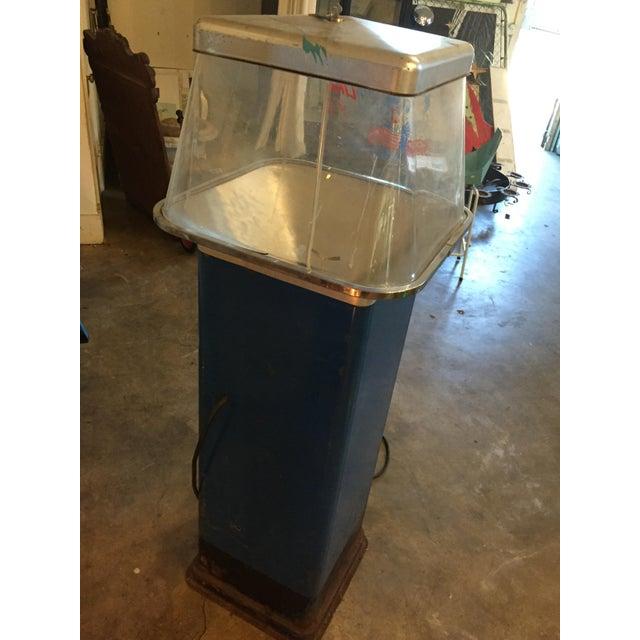 Metal Vintage Functional Popcorn Dispenser For Sale - Image 7 of 10