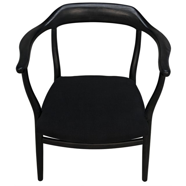 Noir Rey Chair, Charcoal Black For Sale - Image 4 of 7