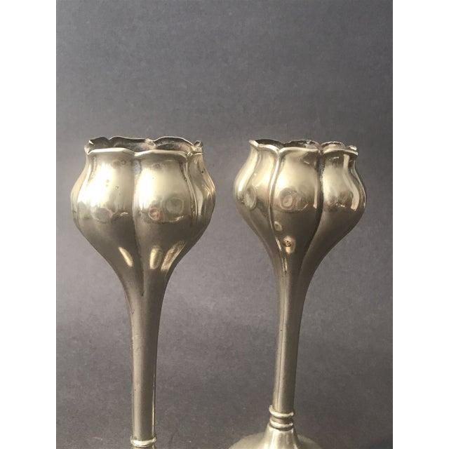 1900 - 1909 Art Nouveau Bud Vases - a Pair For Sale - Image 5 of 8