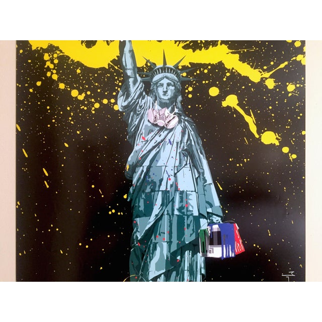 "Americana Mr. Brainwash "" Statue of Liberty "" Authentic Lithograph Print Pop Art Poster For Sale - Image 3 of 12"