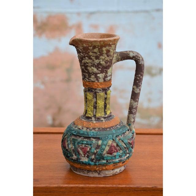 Bitossi for Raymor Italian Lava Glaze Sgraffito Pottery Set For Sale In Richmond - Image 6 of 9