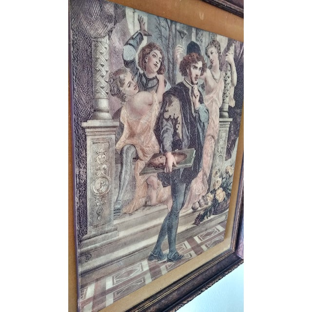 1970s Vintage Artini Hand Painted Sculpture Engraved Wall Art For Sale - Image 5 of 13