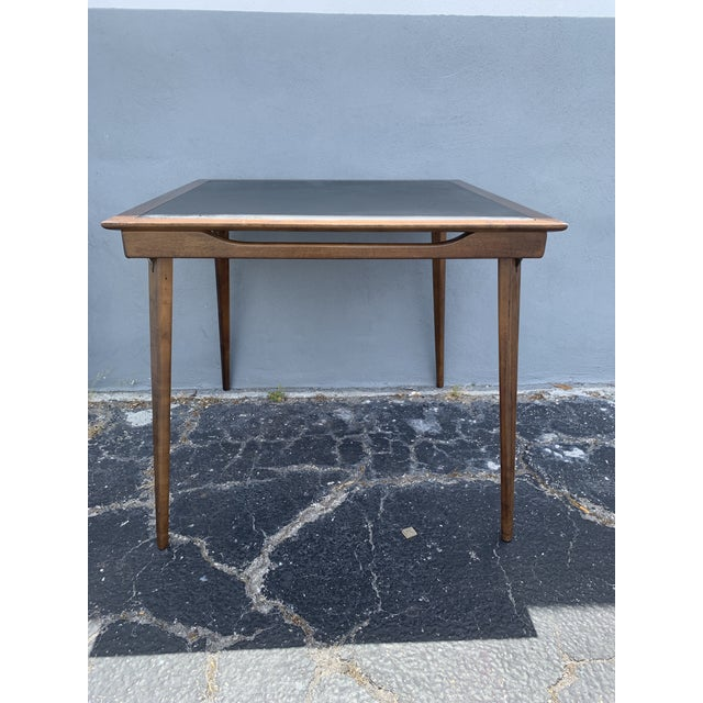 Stakmore Company 1960's Stakmore Danish Modern Game Table and 4 Chairs - 5 Pieces For Sale - Image 4 of 9