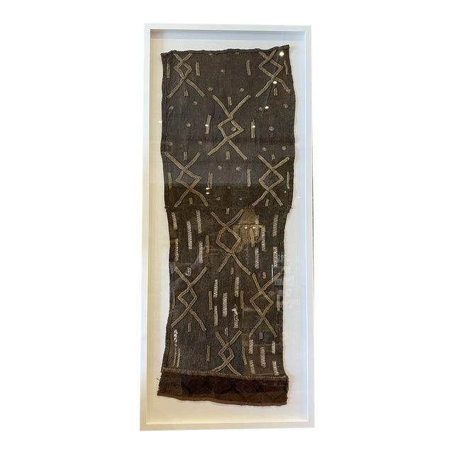 Mounted Vintage Shoowa Kuba Cloth Panel For Sale