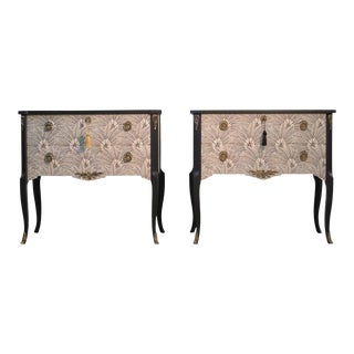 1950s Brasilia Design Gustavian Louis XV Style Chests - a Pair For Sale