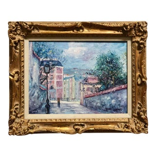 1960s Parisian Streetscape Oil Painting by John Clymer, Framed For Sale