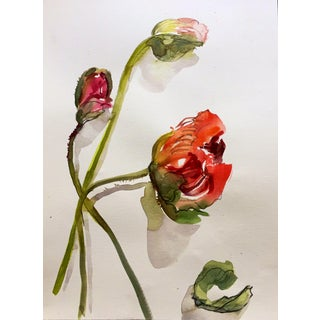 Cerise and Pink Poppies Still Life Painting For Sale