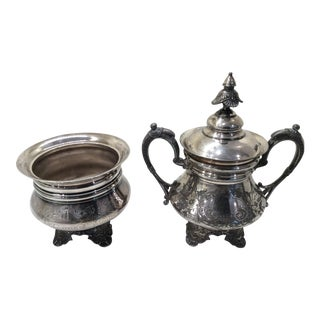 Victorian Era Quadruple Plated Silver Pieces - A Pair