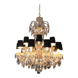 Schonbek Olde World 15 Light Grand Chandelier For Sale