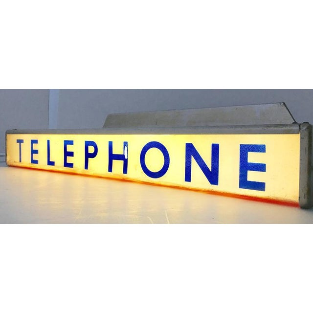 1930s Western Electrical Co. Telephone Booth Light Box Sign - Image 2 of 9