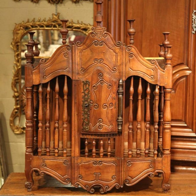 This beautiful antique fruitwood panetiere was carved in Provence circa 1830. In the 18th century in the south of France,...