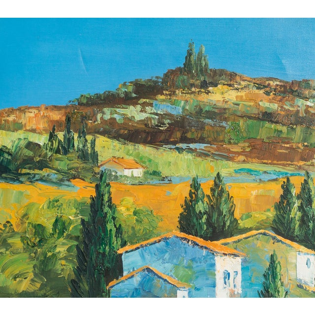 M. Vanly Tuscan Summer Landscape Oil Painting - Image 2 of 6
