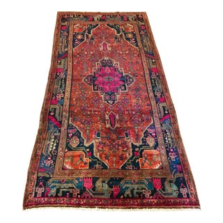 "Vintage Persian Sarouk Rug - 5'2"" X 11'2"" For Sale"