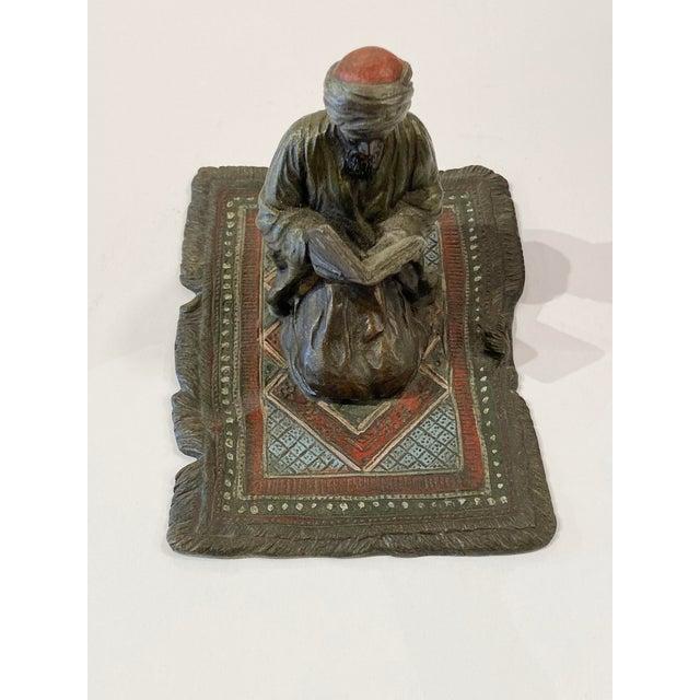Bronze Franz Bergman Austrian Bronze Reading Figure For Sale - Image 8 of 8