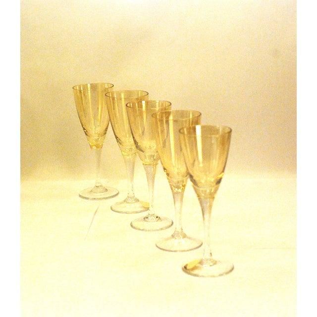 Bohemia Crystal Glassware Gold Iridescent - S/17 - Image 8 of 9