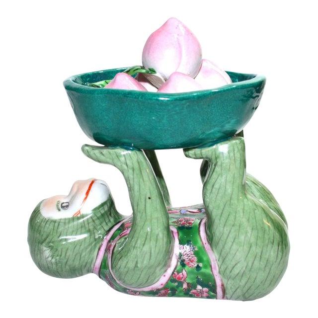 Ceramic Monkey Figurine Monkey Dish - Image 1 of 6