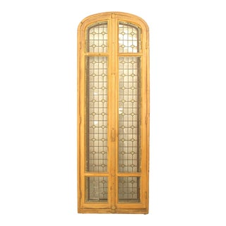 Early 20th Century French Victorian Stripped Arch Doors For Sale