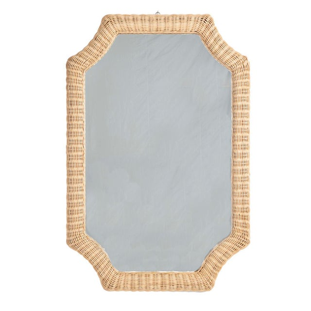 This distinctive mirror adds architectural interest and a sense of space wherever it hangs. The frame is tightly hand...