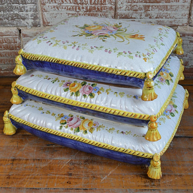 Vintage Faux Pouffe Terracotta Garden Seat - Image 7 of 11