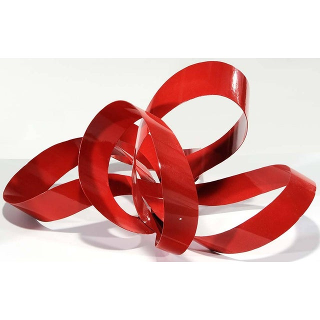 One of a Kind Red Ribbon Sculpture by Paul Chilkov For Sale - Image 4 of 6