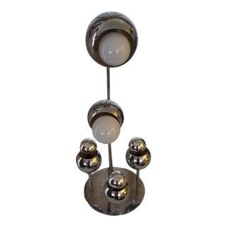 Vintage Mid Century Italian Torino Chrome Atomic Eyeball Space Sputnik Lamp For Sale