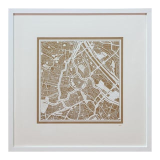 Sarreid Ltd Vienna Framed Map