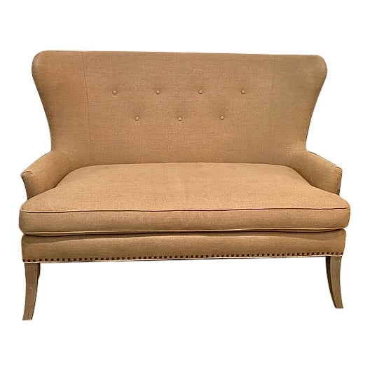 Lillian August Tan Chair and a Half For Sale