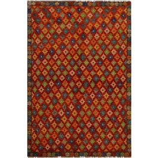 1990s Southwestern Balouchi Corneliu Orange/Gray Wool Rug - 4'11 X 6'6 For Sale