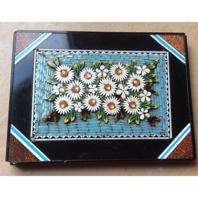 Beautiful antique Italian glass Micro Mosaic panel that can be framed or used as a paperweight or accent piece. There is a...