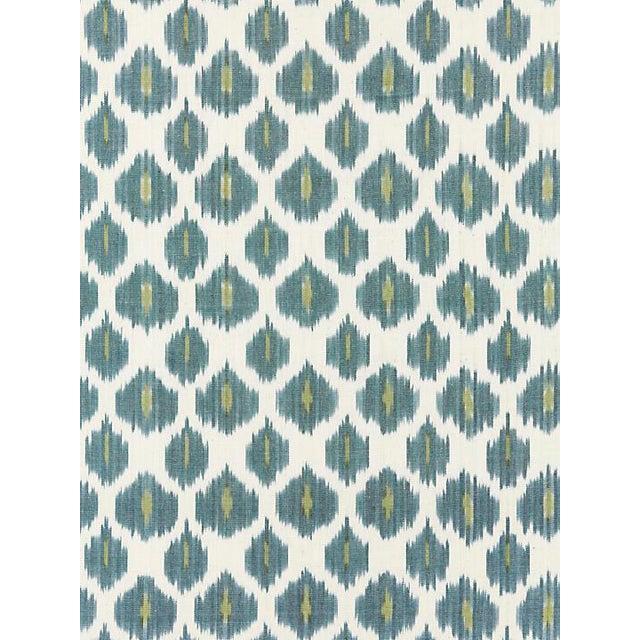 Scalamandre Amara Ikat Weave, Peacock Fabric For Sale