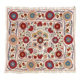 Image of 20th Century Asian Suzani Textile Rug - 3′3″ × 3′4″ For Sale