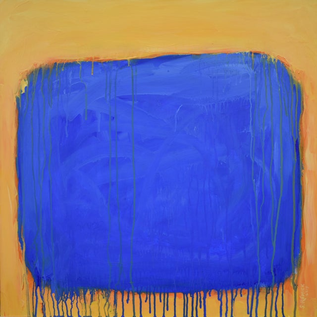 """The Sun Came Up and It Was Blue and Gold"" Contemporary Abstract Painting by Stephen Remick For Sale - Image 10 of 11"
