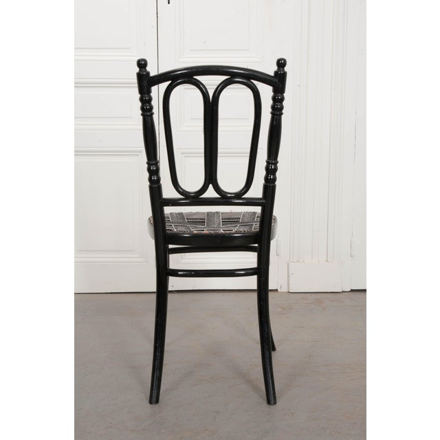 Set of Four Ebony Thonet Bentwood Side Chairs For Sale - Image 11 of 13
