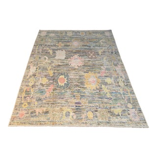 """Bellwether Rugs Colorful Oushak - 11'3"""" X 8'11"""" For Sale"""