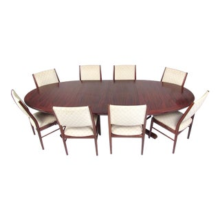Scandinavian Modern Rosewood Dining Room Set For Sale