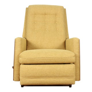 Mid Century Walnut Lazy Boy Chair For Sale