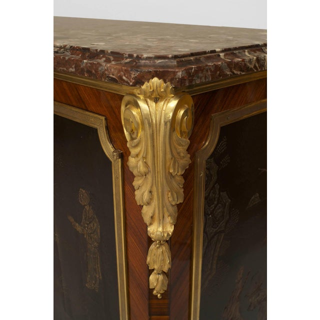Mid 19th Century 19th C. French Louis XV/XVI Style Commode Signed by Decour For Sale - Image 5 of 7