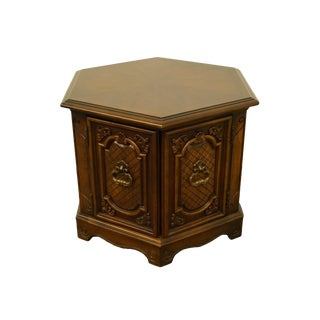 20th Century Italian Hickory Tavern Hexagonal Accent Cabinet For Sale