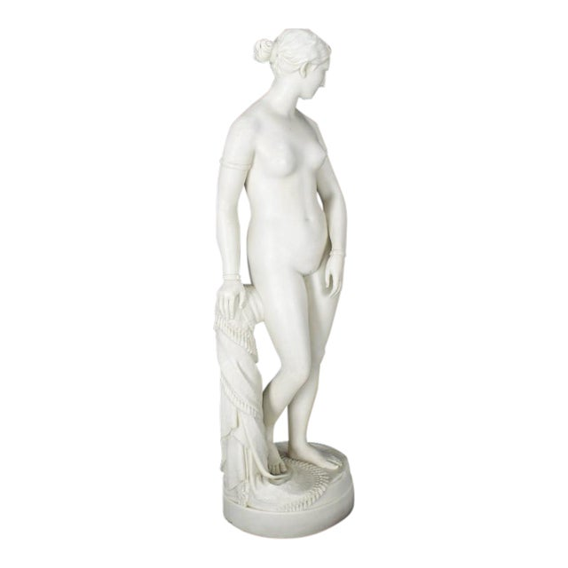 19th Century Fine Porcelain Nude Woman Figurine Tall, Dated 1853 For Sale