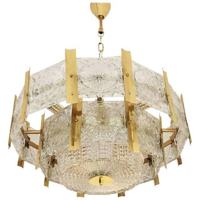 Mid-Century Brass Chandelier, 1960s For Sale - Image 6 of 6