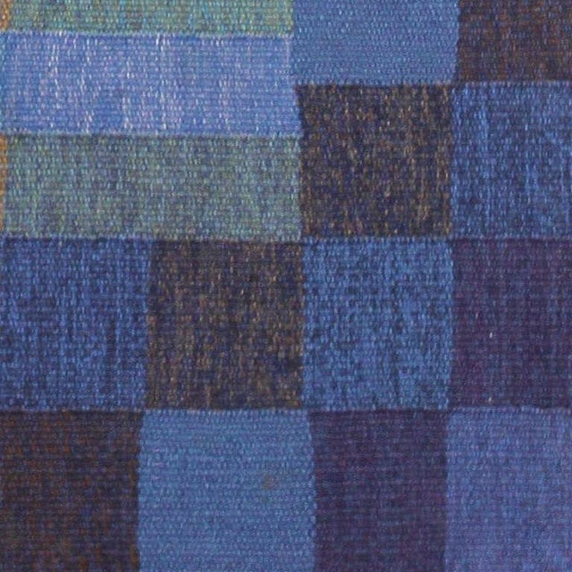 Mid 20th Century Vintage Scandinavian Square Rug by Karin Jonsson - 6′7″ × 6′7″ For Sale - Image 5 of 7